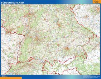 Mapa Alemania meridional